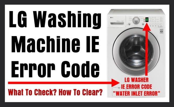 codici errore lavatrici LG